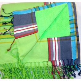 DOUBLE Kikoi Serviette FLASHY GREEN
